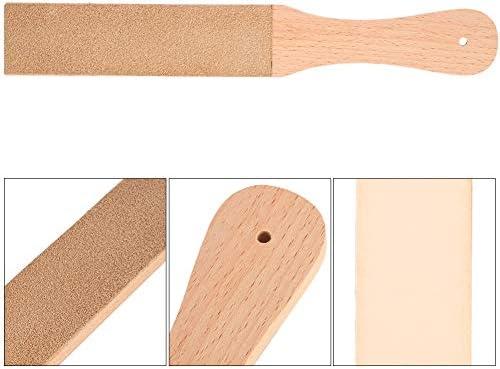 革砥 理容革砥ツール 研磨用ボード シェービングツール 木製ハンドル 砥ぎ具 包丁 ナイフ切れ味