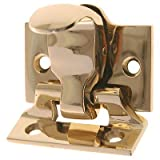 Brass Finish Window Spring Loaded Sash Lock & Lift | Antique Reproduction Double Hung Window Hardware for Vintage & Modern Furniture + Free Bonus (Skeleton Key Badge) | WS-79B (6)
