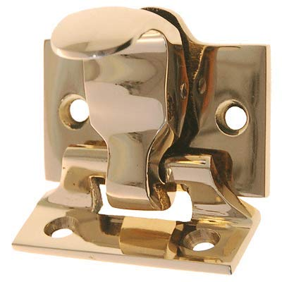 Brass Finish Window Spring Loaded Sash Lock & Lift   Antique Reproduction Double Hung Window Hardware for Vintage & Modern Furniture + Free Bonus (Skeleton Key Badge)   WS-79B (6) by UNIQANTIQ HARDWARE SUPPLY (Image #2)