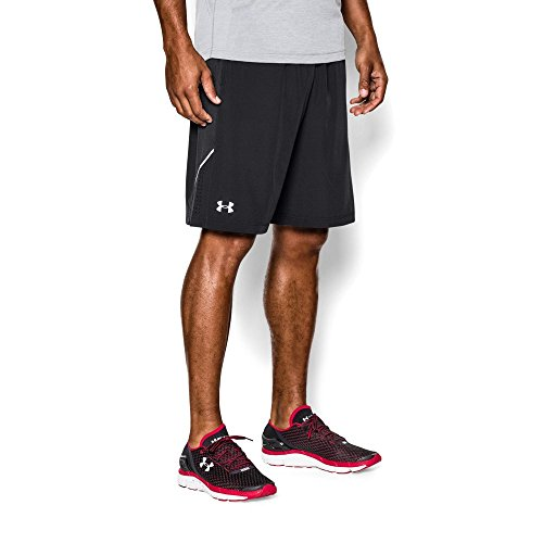 "Under Armour Men's Launch Run Stretch Woven 9""  Shorts, Black/Black, Medium"