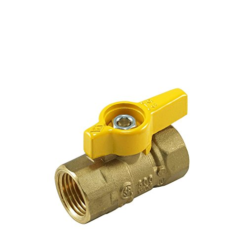 Forged Brass Gas Ball Valve - NIGO 240DEW Series Forged Brass Gas Ball Valve, CSA Certified, Aluminum Handle, NPT Female, Standard Port 600WOG (1/2