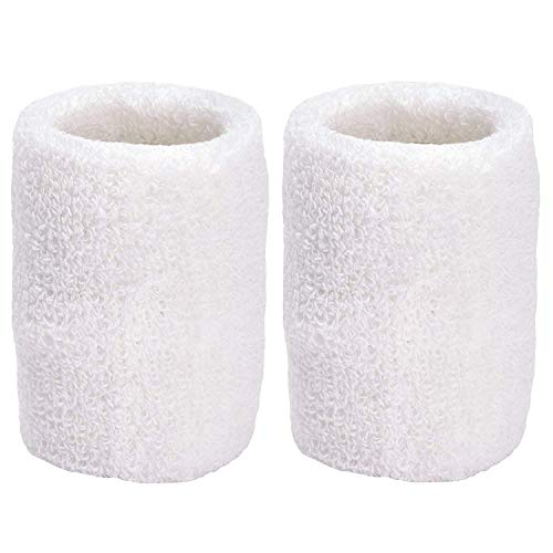Meta-U 5 Pairs Wholesale Soft Thicken Cotton Wristbands (White)