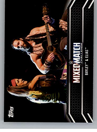 Wrestling Wrestling 2018 Topps WWE Women's Division Evolution Mixed Match Challenge #MM-6 Bayley and Elias