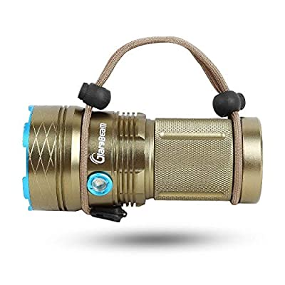 GiareBeam Tactical Flashlight Portable Handheld LED Flashlight Waterproof Rechargeable Flashlight 12xCREE XM-L T6 Torch 3 Modes 18650 Flashlight for Home and Outdoor