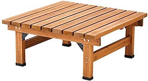 ライトブラウン/Abelia Bench 90×90 デッキ縁台 縁台 ウッドデッキ デッキ シンプル ブラウン お手軽 便利