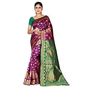 Dealsure Women's Banarasi Art Silk Saree With Blouse Piece (DS-S8615-05_Multicolored)