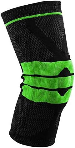 膝パッド バスケットボール膝パッドスポーツパンツソックスケアふくらはぎプロテクター夏フィットネス乗馬機器ランニング。 (色 : 緑, サイズ : L)