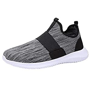 LuckyGirls Zapatillas de Correr Malla Bandage Sin Cordones Casual Calzado de Deporte Transpirables Zapatos Moda Bambas de Running de Las Hombres