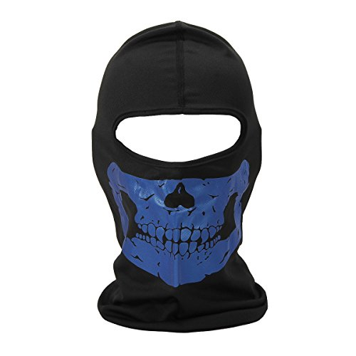 Quick Easy Costumes For Teenage Girls (Fashion Skull Cycling Balaclava Full Face Mask Biker Helmet Liner Cosplay Accessory)