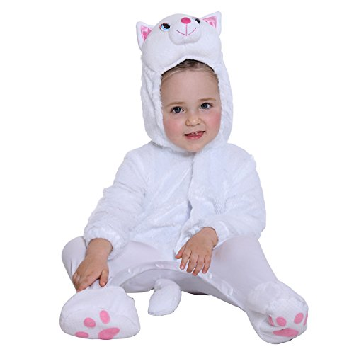 Halloween Cat Costume for Baby Girls and Boys - Perfect Cosplay & Theme Party Dress Up Outfit Gift - White, 12 to 24 (The Best Halloween Costumes This Year)