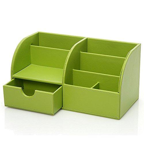 green office desk. unionbasic multifunctional pu leather office desk organizer business cardpenpencilmobile phonestationery holder storage box green