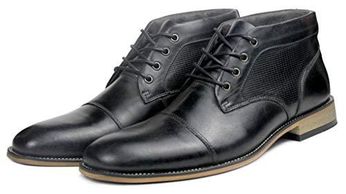 Cap Cordones Botas Dickinson SimpleC Negro Hombres Toe con Wingtips Oxfords Botín para Tobillo paqzxw