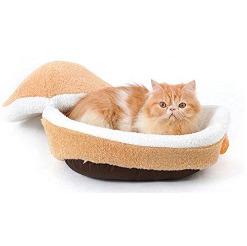 Gato Cesta Hamburger gato cueva de dormir Cama para perros Perros cama cojín tb001: Amazon.es: Productos para mascotas
