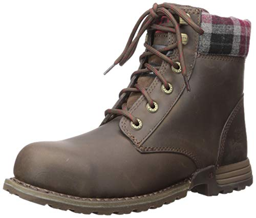 (Caterpillar Women's Kenzie Steel Toe Work Boot, Bark, 7.5 M US)