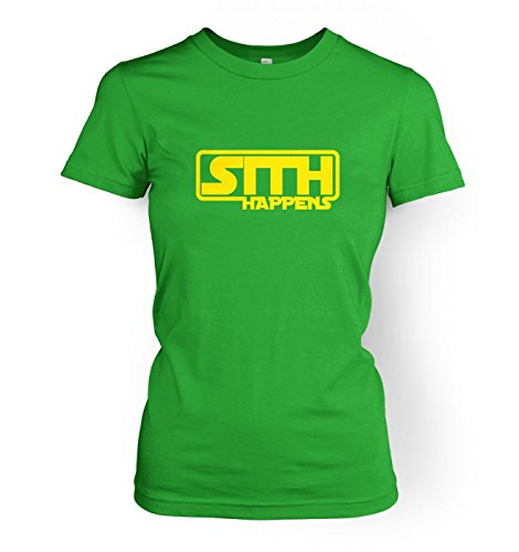 Sith Happens Womens T-shirt - Irish Green Large (approx Size 12) ()