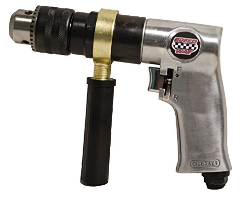 Speedway 9957 Variable Speed Reversible Air Drill, 1/2""