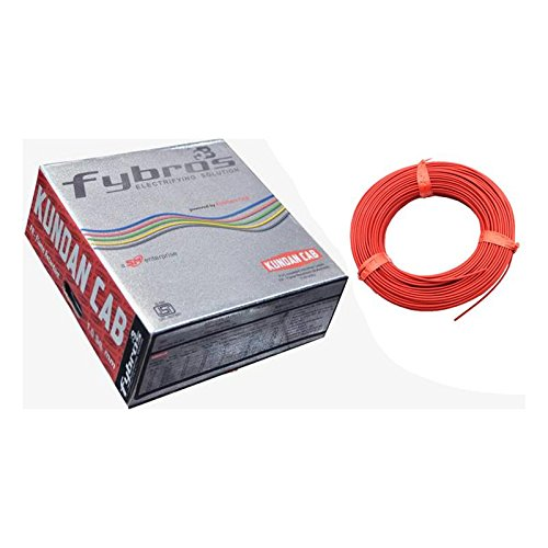 Kundan Fybros PVC Cable 2.5Sq.mm 90mtr Coil (Red)