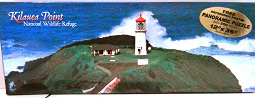 Kilauea Point Lighthouse National Wildlife Refuge Hawaii Panoramic Jigsaw Puzzle 500 pieces with poster