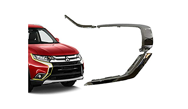 front Bumper LH chrome trim molding strip 3PCS For Mitsubishi Outlander 2016-19