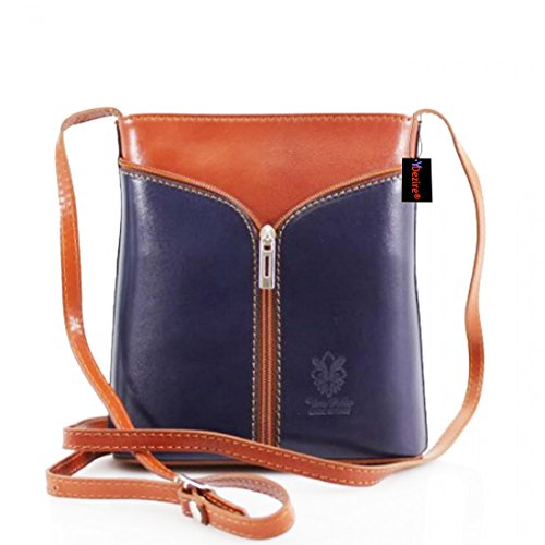 Bucket Key Lock Bag Leather Callie And tan Navy xqUw8WI1