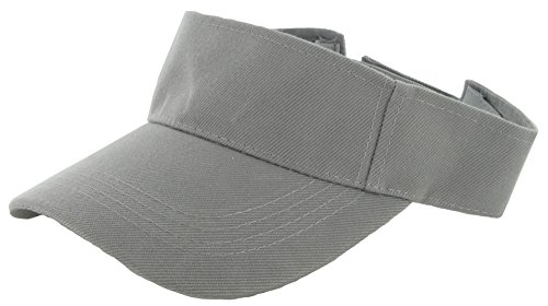 Plain Men Women Sport Sun Visor One Size Velcro Cap ( 29+ Colors) Grey,One - Visor Grey