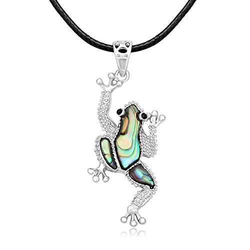 GUANDU Simple and Dainty Various Styles of Adjustable Animal Black Rope Pendant Necklace for Female Gifts (Frog) Rope Frog