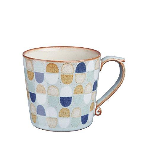 Denby Oven Safe Mug - Denby Heritage Pavilion Accent Mug, Large, Blue