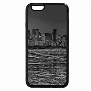 iPhone 6S Case, iPhone 6 Case (Black & White) - ice blue cityscape of lakefront chicago hdr