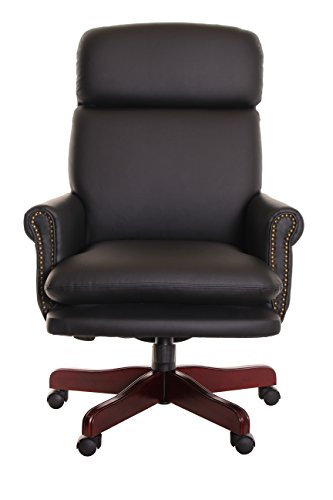 timeoffice-traditional-executive-vinyl-leather-swivel-recliner-chair-with-armrest-wing-backed-decora