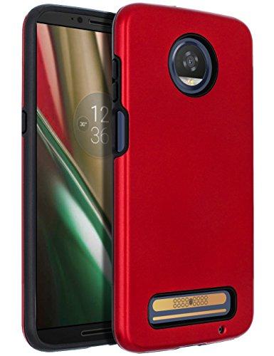 Moto Z3 Case,Moto Z3 Play Case,SENON Slim-fit Shockproof Anti-Scratch Anti-Fingerprint Protective Case Cover for Motorola Moto Z Play 3nd Gen 2018,Red