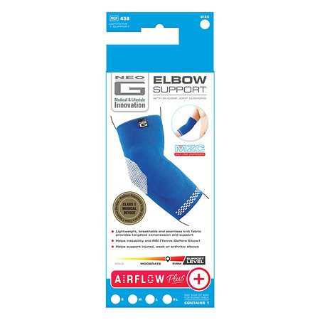 Neo G Airflow Plus Elbow Support X Large Blue/White - 3PC by Neo G