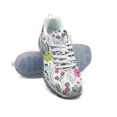 real cheap online outlet ebay FAAERD Watercolour Cactus And Flowers Women's Breathable Mesh Running Shoes Air Cushion Casual Walking Sports Outdoor Sneakers vu91jJv
