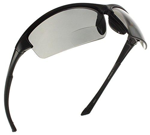 Fiore La Jolla Bifocal Polarized Reading Sunglasses TR90 Readers for Men and Women [Black, ()