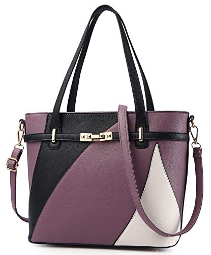 Purple Satchel Handbag - 9