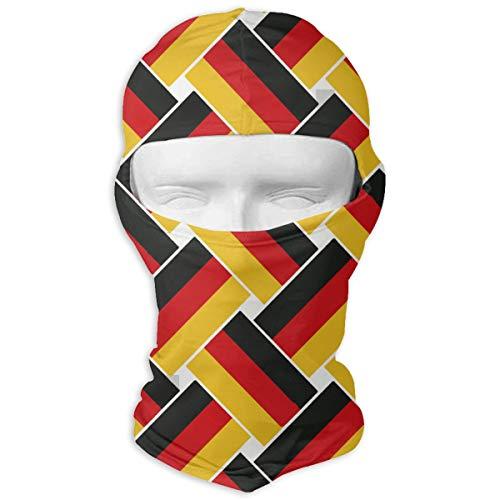 st Sun Protection Balaclava Face Mask, Men Women Cycling Skiing Fishing Motorcycle Sports Helmet - Germany Flag Repeat Headband ()