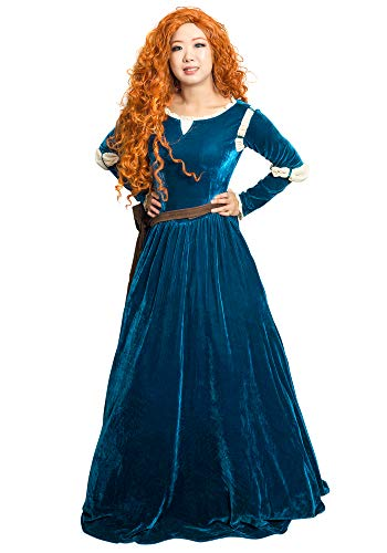 Merida Costumes Adult - DAZCOS US Size Adult Princess Gown