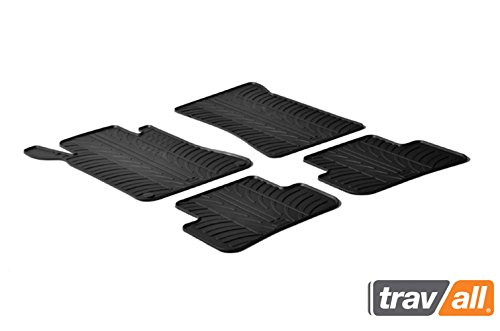 Travall Mats for Mercedes Benz C-Class Sedan (2000-2007) Also for Mercedes Benz C-Class Wagon (2001-2007) TRM1158 - All-Weather Rubber Floor Liners (Sedan C-class Mercedes)