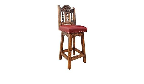 Outstanding Amazon Com San Juan Southwestern Swivel Bar Stool Leather Creativecarmelina Interior Chair Design Creativecarmelinacom