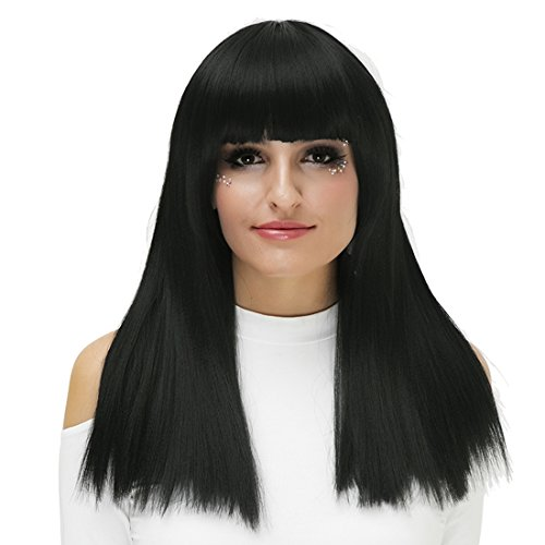 (Women's Fashion Hallowwen Long Straight Hair Heat Resistant Party ??????Cosply Synthetic Trendy Charm Wigs With Free Cap)
