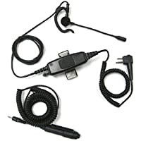 Astra B41 Single Wire Earhook Boom Microphone System - Motorola Radios MO-2