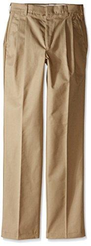 Red Kap Uniforms Men's Pleated Twill Slacks, Khaki, 30x34