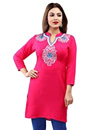Maple Clothing Rayon Embroidered Women's Indian Kurti Tunic Top Blouse