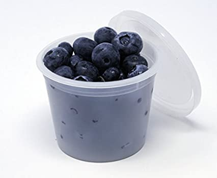 Vito/'s Famous Deli Container W Lid 4 OZ Pack 50 Leak Resistant Freezer Safe