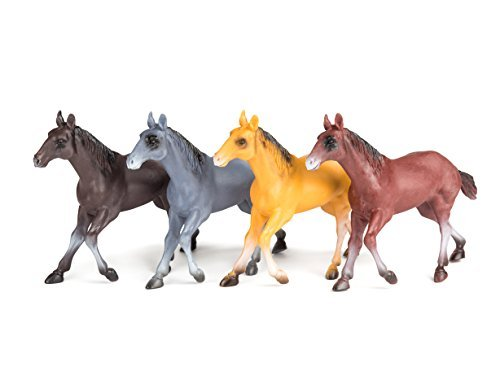 Neliblu Horse Toy Set, 1-Dozen, 6-Inch