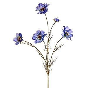 32″ Silk Cosmos Flower Spray -Blue (Pack of 12)