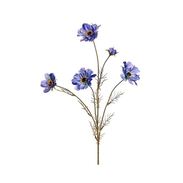 32″ Silk Cosmos Flower Spray -Blue (Pack of 12)