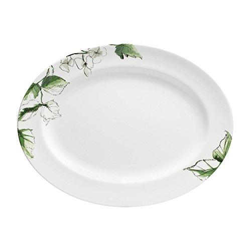 - Wedgwood Floral Leaf Oval Platter, 15.25