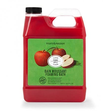 Fruits & Passion's Foaming Bath Refill, Orange Cantaloup, Vitality Collection, 1L