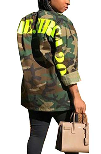 WentShopping Women Casual Camo Lightweight Zipper Outwear Jacket by WentShopping