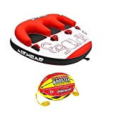 Airhead Triple Rider Inflatable Backrest Tube with 4K Booster Ball Towing System